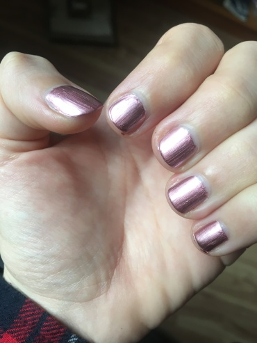 vernis metallic rose